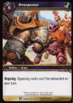 warcraft tcg fields of honor overpower