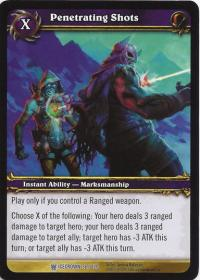 warcraft tcg icecrown penetrating shots