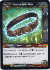 warcraft tcg caverns of time peroth arn s belt