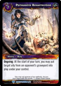 warcraft tcg battle of aspects persuasive ressurection