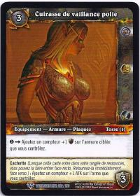 warcraft tcg worldbreaker foreign polished breastplate of valor french