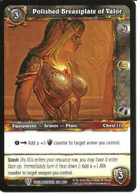 warcraft tcg worldbreaker polished breastplate of valor