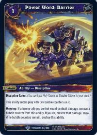 warcraft tcg twilight of the dragons power word barrier