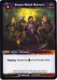 warcraft tcg reign of fire power word bravery