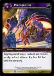 warcraft tcg drums of war precognition