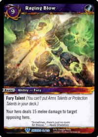 warcraft tcg war of the ancients raging blow