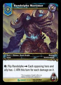 warcraft tcg death knight starter randolphe mortimer