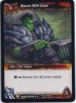 warcraft tcg caverns of time razor hill lout