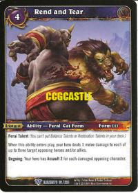 warcraft tcg war of the elements rend and tear