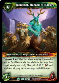 warcraft tcg tomb of the forgotten renshol herald of nature