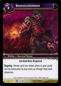 warcraft tcg drums of war resourcefulness