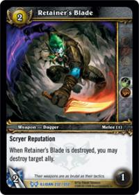 warcraft tcg the hunt for illidan retainer s blade