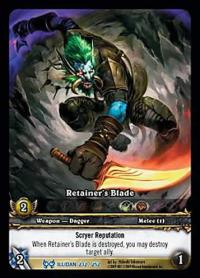 warcraft tcg extended art retainer s blade ea
