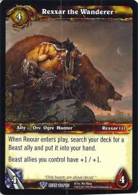 warcraft tcg reign of fire rexxar the wanderer