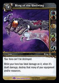 warcraft tcg the dark portal ring of the unliving