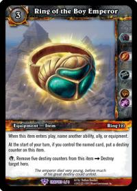warcraft tcg crafted cards ring of the boy emperor