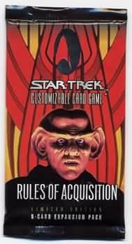 star trek 1e star trek 1e sealed product rules of acquisition booster pack