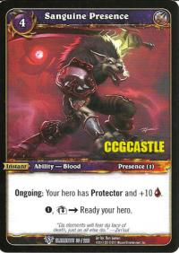 warcraft tcg war of the elements sanguine presence