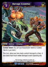 warcraft tcg reign of fire savage combat