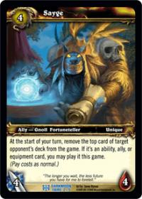 warcraft tcg darkmoon faire sayge