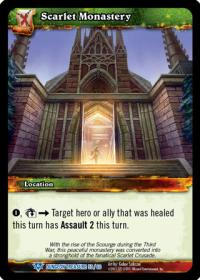 warcraft tcg dungeon deck treasure scarlet monastery