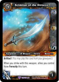 warcraft tcg crafted cards scimitar of the sirocco