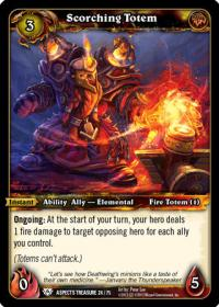 warcraft tcg battle of aspects scorching totem