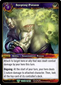 warcraft tcg throne of the tides seeping poison