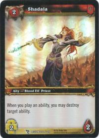 warcraft tcg foil and promo cards shadala foil