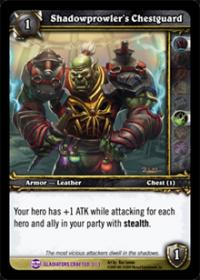 warcraft tcg crafted cards shadowprowler s chestguard