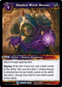 warcraft tcg war of the ancients shadow word devour