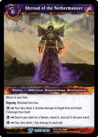 warcraft tcg crown of the heavens shroud of the nethermancer