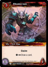 warcraft tcg battle of aspects shumu zun