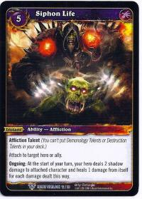 warcraft tcg class decks 2011 spring siphon life cd