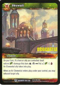 warcraft tcg war of the elements skywall