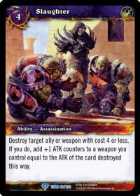 warcraft tcg tomb of the forgotten slaughter