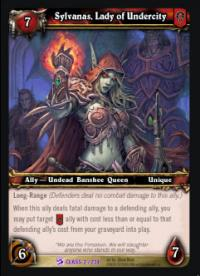 warcraft tcg class decks 2010 sylvanas lady of undercity