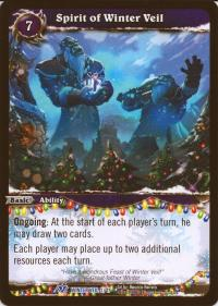 warcraft tcg feast of winter veil 12 spirit of winter veil