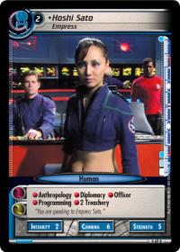 star trek 2e captains log hoshi sato empress foil