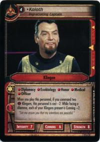 star trek 2e these are the voyages koloth ingratiating captain foil