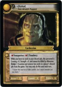 star trek 2e these are the voyages dukat pah wraith puppet foil
