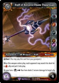 warcraft tcg crafted cards staff of sorceror than thaurissan