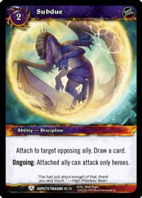 warcraft tcg battle of aspects subdue