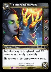 warcraft tcg crafted cards sunfire handwraps