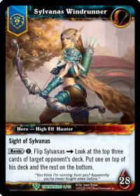 warcraft tcg foil hero cards sylvanas windrunner foil hero