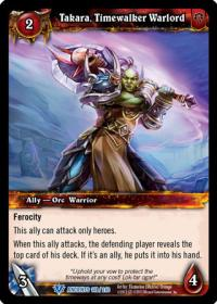 warcraft tcg war of the ancients takara timewalker warlord