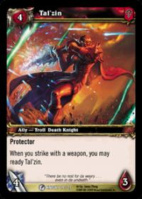 warcraft tcg death knight starter tal zin