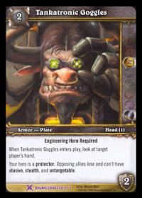 warcraft tcg crafted cards tankatronic goggles