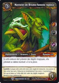 warcraft tcg worldbreaker foreign tattered dreadmist mantle french