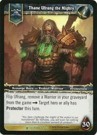 warcraft tcg foil hero cards thane ufrang the mighty foil hero